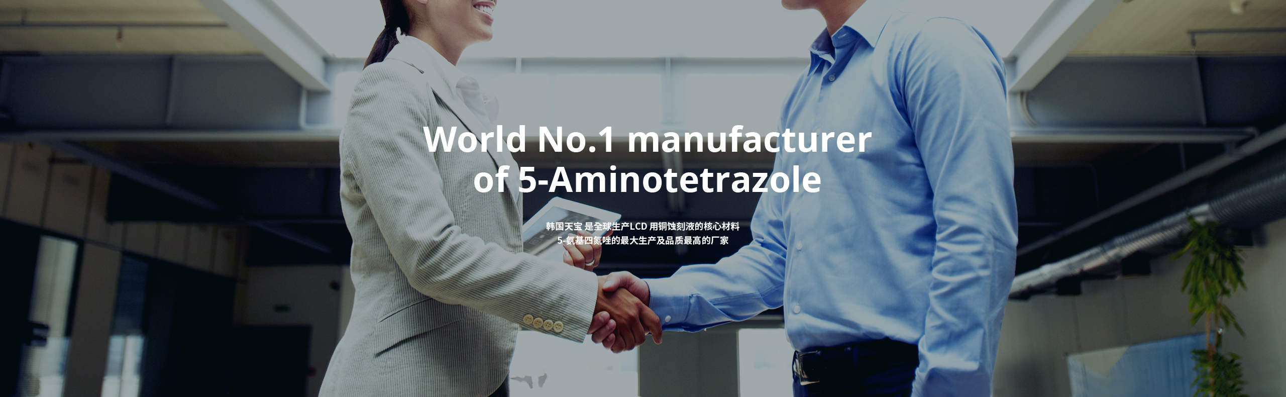 World No.1 manufacturer of 5-Aminotetrazole