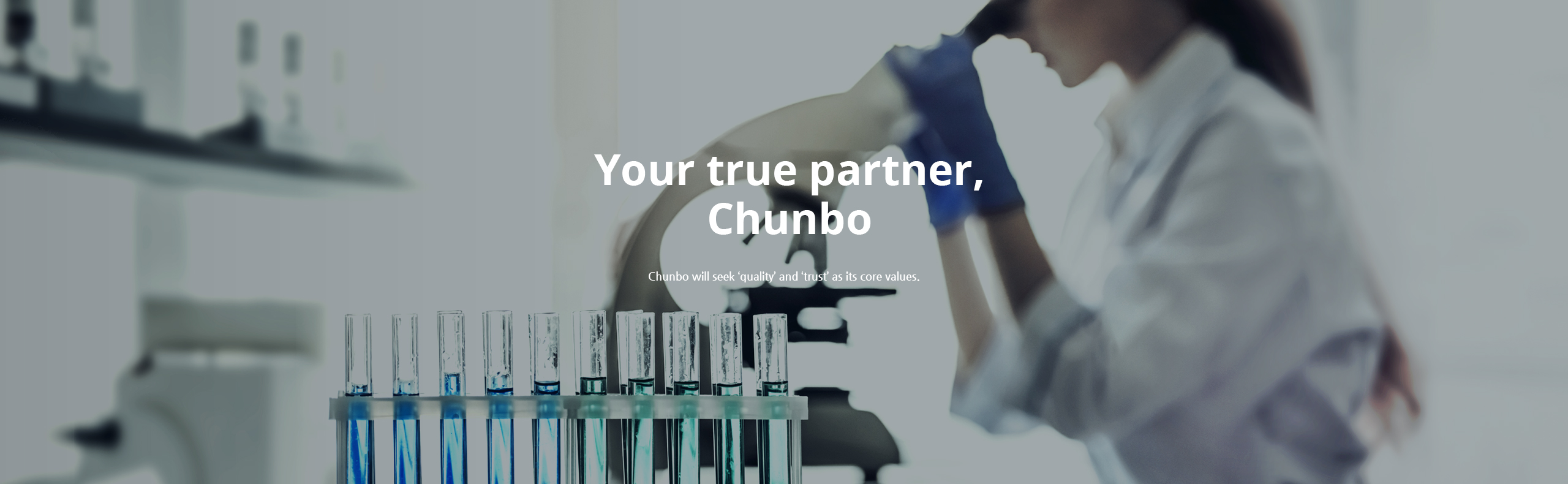 Your true partner, Chunbo